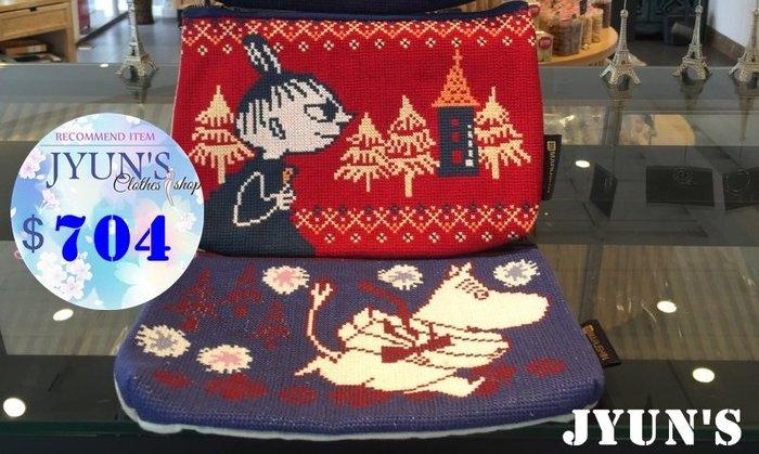 JYUN'S 新款出口日本外貿原單嚕嚕米姆明亞美小不點十字繡精緻刺繡零錢包手拿包收納包 3款 預購