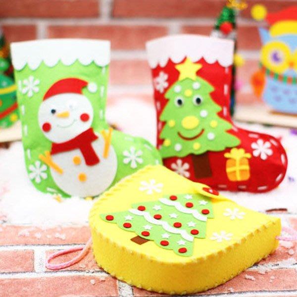 聖誕節DIY手做不織布麋鹿雪人側背包 材料包【XM0243】《Jami Honey》