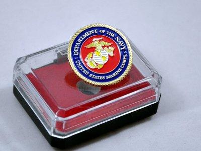 收藏品 美國海軍陸戰隊/USMC/US.MARINES 金屬胸針/徽章