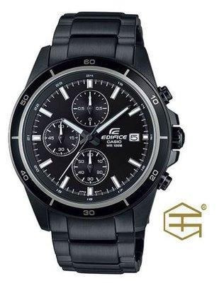 【天龜】CASIO EDIFICE  簡約黑銀 三眼計時賽車錶  EFR-526BK-1A1 台中市