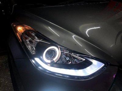 新店【阿勇的店】2011~2017年 elantra  現代 黑框光圈魚眼R8款大燈 elantra 大燈 HYUNDA