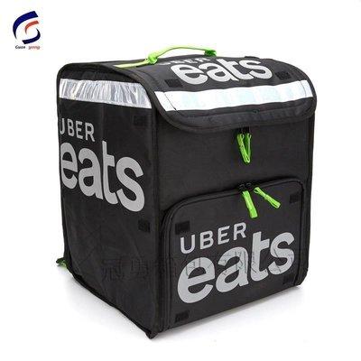 新品~現貨~uber eats 冰包外賣包雙肩後背保溫箱外送隔層反光車載保溫包外賣箱~EVA58333