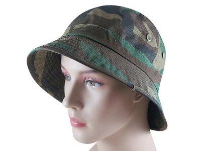 【二鹿帽飾】(迷彩紋) 夏季登山客專用帽 / 迷彩潮流漁夫帽/ 男女款式