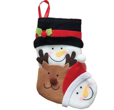 【洋洋小品可愛聖誕老公公雪人鹿聖誕襪小】禮物袋聖誕節服裝聖誕飾品聖誕襪聖誕樹LED聖誕燈聖誕佈置鹿角頭飾髮箍花圈擺飾吊飾