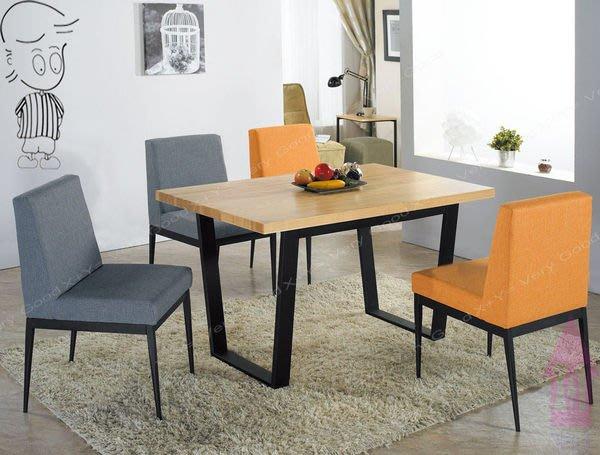 【X+Y時尚精品傢俱】現代餐桌椅系列-安德斯 4.3尺栓木本色黑腳餐桌.不含餐椅.北歐風.摩登家具
