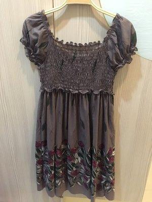 小花別針、專櫃品牌【xing 】短袖連身裙洋裝