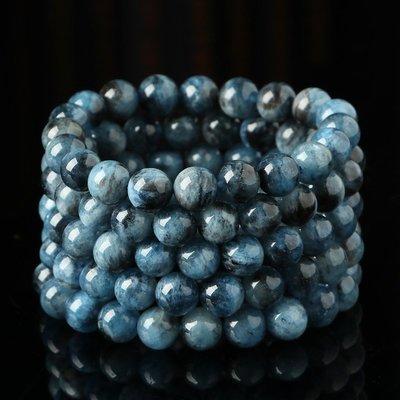 水晶天然冰透海藍寶手鏈 女款 異象鬼藍水晶飾品 福利開秒