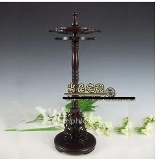 INPHIC-黑梓木雕花 圓柱形旋轉筆架 (木製工藝品書房擺飾,文房四寶)