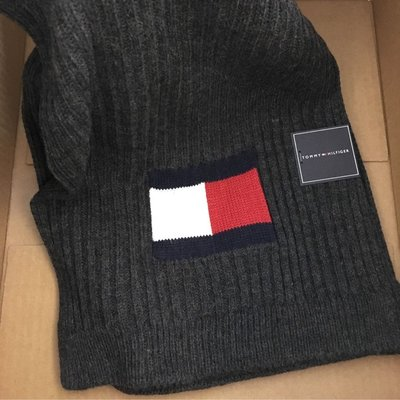 😍送禮精選😍Tommy Hilfiger Men's scarf Grey 深灰色頸巾