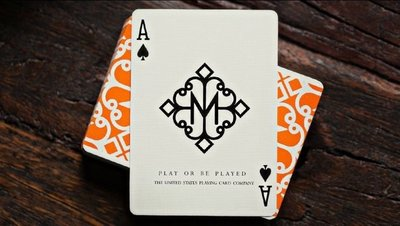 【USPCC撲克】撲克牌 HUSTLERS ORANGE 橘色 Playing Cards by Daniel Madi
