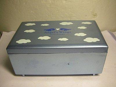 163.已稍有年代木質長方型FORTUNE DUCK 1988珠寶盒/音樂盒!!!---值得收藏!!6房木箱)-P