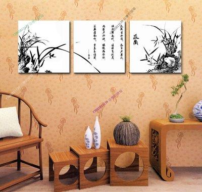 【70*70cm】【厚2.5cm】孤蘭-無框畫裝飾畫版畫客廳簡約家居餐廳臥室牆壁【280101_397】(1套價格)