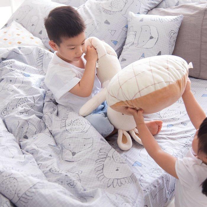 【 OLIVIA 】DR350 灰  單人床包夏日涼被三件組  童趣系列  100%台灣製