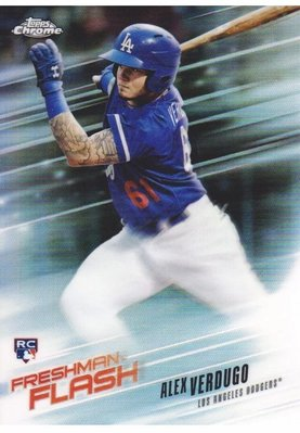 ALEX VERDUGO 2018 Topps Chrome Freshman RC #FF-10 道奇 頂級新秀