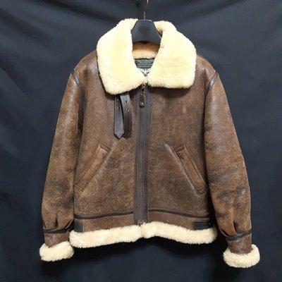 【TOKYO  嚴選】日本帶回DOG FIGHT 高檔仿舊TYPE B-3 羊毛皮飛行皮衣 真皮