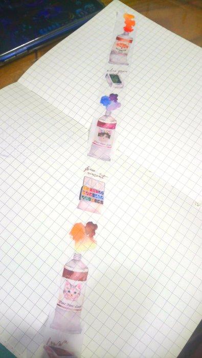【R的雜貨舖】紙膠帶分裝(非整捲) 喵星達 meow meow star 動物水彩 1單位=100cm