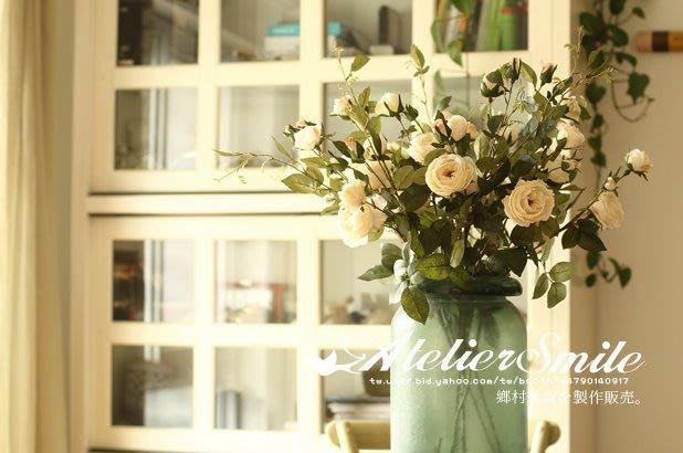 [ Atelier Smile ] 鄉村雜貨 小花園系列 仿真玫瑰花 絹花裝飾果樹 仿真植物 六色選 (現+預)