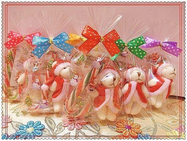 歡樂時光禮品聖誕節熊&拐杖糖~多款可愛熊/兔任選~換購雪人LED燈 結婚禮小物 二次進場 喜悅時光喜糖送客禮品 團康贈品