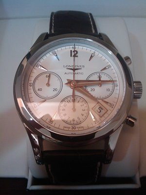 LONGINES 經典導柱輪計時機械腕錶L27424762