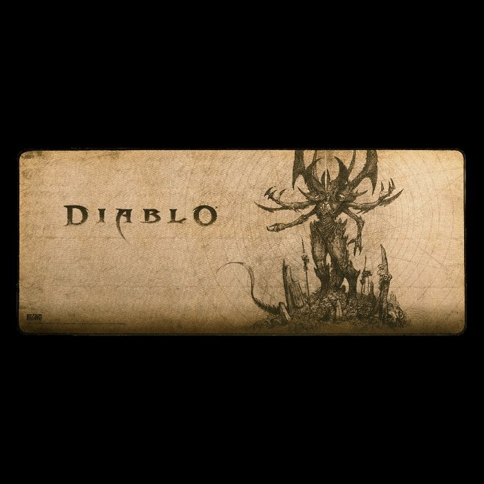 【丹】暴雪商城_Diablo Lord of Terror Gaming Desk Mat 暗黑破壞神 滑鼠墊