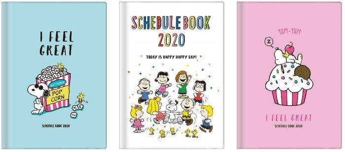 《預購》snoopy 史努比 2020行事曆/日誌本/手帳 B6月計畫~日本製~共3款~心心小舖
