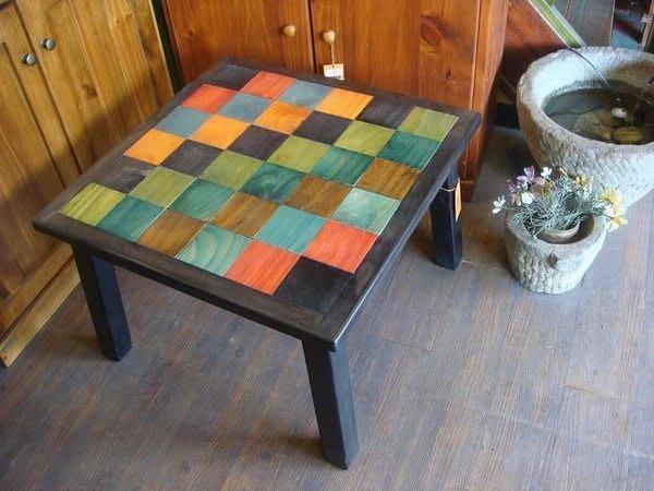 原木工坊~實木家具訂做  室內空間規劃  南歐風原木拼貼桌