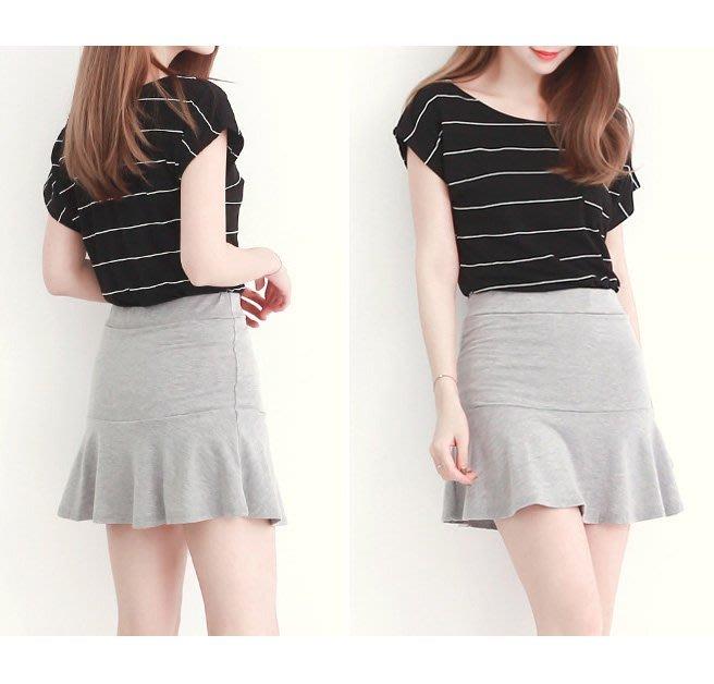 【Hao Da】全館399免運↘「M~XL。現貨」魚尾裙襬 棉質褲裙 (P1004)