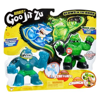 Heroes of Goo Jit Zu 紓壓伸展雙人偶組 Thrash vs Rockjaw ~請詢問庫存