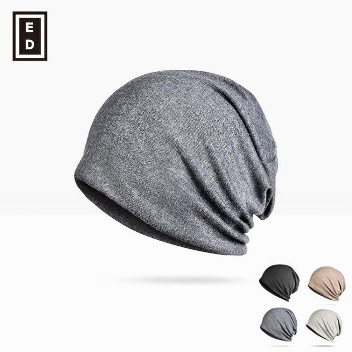 春夏季帽男女堆堆帽針織套頭帽正韓化療潮包頭帽月子帽加厚款睡帽