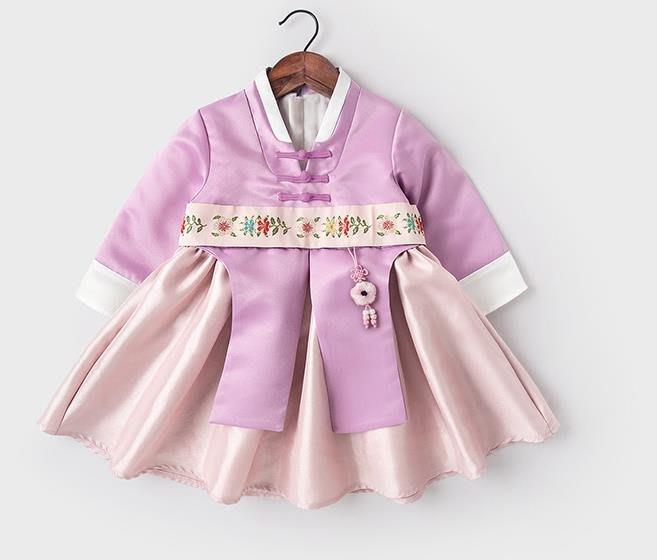 紫滕戀推出女寶寶一周歲衣服禮服女童加絨秋冬裝中國風唐裝漢服拜年服連衣裙 適合 73-110