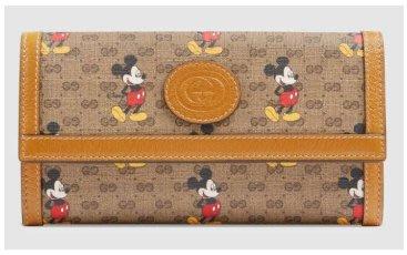 2020年新款GUCCI 古馳 Disney x 米奇新年款 長款錢包 602530長夾皮夾gucci皮夾