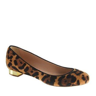 J Crew 正品☆ 義大利製 patent ballet flats 豹紋鞋 平底包鞋 SIZE 8
