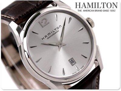 HAMILTON 漢米爾頓 手錶 JazzMaster Slim 男錶 中性錶 機械錶 瑞士製 H38515555
