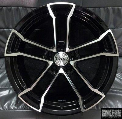 全新鋁圈 轟動上市 KILIN V08 17吋 高質感 黑底車亮面 5孔 100/108/112/114.3 7.5J