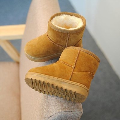 ZIHOPE 女童靴 低筒兒童雪地靴女童靴子男童鞋親子鞋冬款防滑加厚寶寶短靴潮ZI812