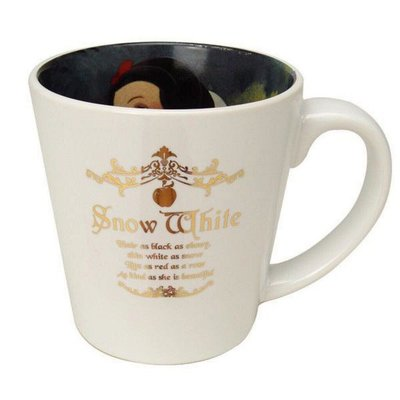 ☄️現貨☄️迪士尼 DISNEY 公主系列 白雪公主 內側寫真 鍍金字杯面 馬克杯