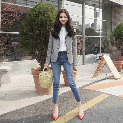 牛仔褲 (YCH6060) 小編推薦款:超好穿復古高腰彈力直筒九分褲 25-31