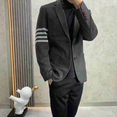THOM BROWN TB早春新品 極具特色四條槓提花羊毛呢西裝外套