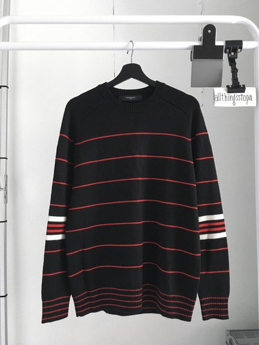 Givenchy wool sweater 紀梵希 條紋 毛衣