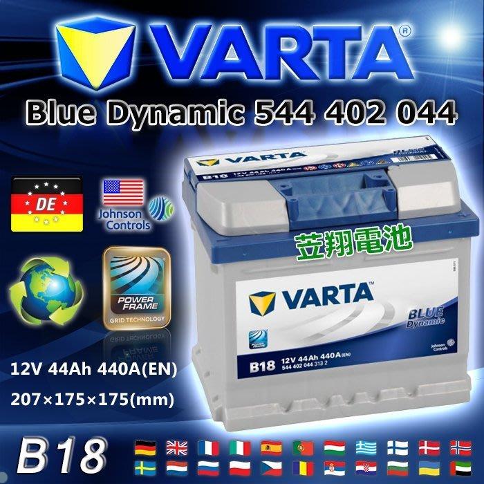 ☼ 台中苙翔電池 ►德國華達 VARTA 汽車電瓶 B18 54801 54701 賓士小電瓶 頂級 BLUE 超級藍色