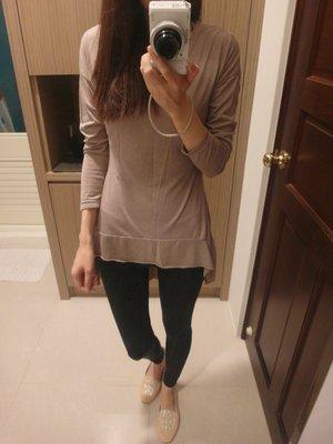 大地咖啡色系長袖魚尾洋裝