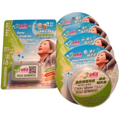 ☆罩鼻康[Nosecomm]特惠組(含鼻罩隨身盒/28對濾芯)--高效清新薄荷--M/M+適用--防霾、類隱形