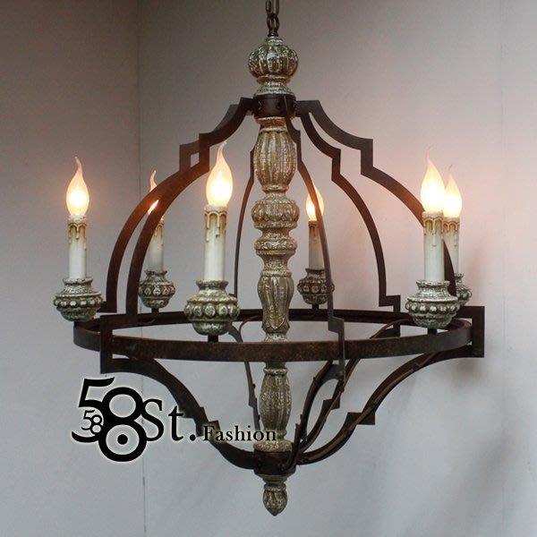 【58街】巴洛克風格,英國設計師款式「年代吊燈」美術燈。複刻版。GH-448