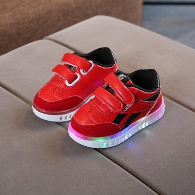 休閒鞋 兒童亮燈鞋1-3-5歲2寶寶學...