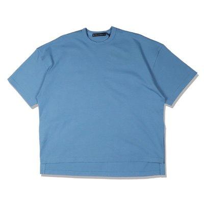 Freaky House-日本Audience 10盎司老式美國棉吸汗和速乾寬鬆版落肩短袖T水洗藍