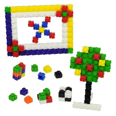 【晴晴百寶盒】台灣品牌 斜面小方塊-720PC WISDOM 建構式益智遊戲 教具益智遊戲環保無毒玩具檢驗合格W923