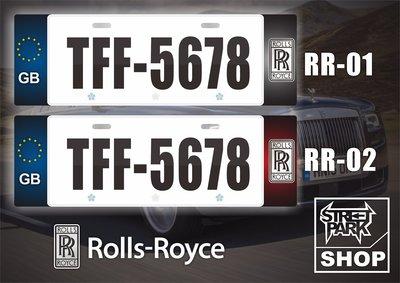 【STREET PARK】訂製 歐盟 車牌裝飾 Rolls-Royce Wraith【原價780$ 特價 580$】