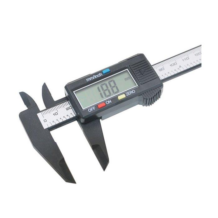 【附發票】 遊標卡尺 0-150mm 碳纖維電子數位顯示