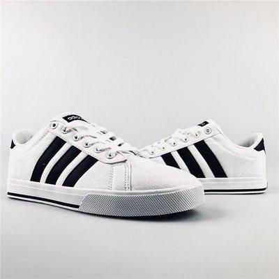 D-BOX  ADIDAS NEO GVP CVS 白黑 休閒運動鞋 學院風 板鞋 經典 復古