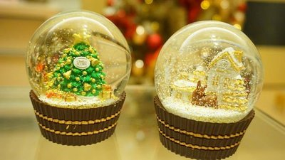 【現貨】7-11 2017金莎水晶球 金沙水晶球 金沙巧克力水晶球 一套2顆 不分售 另有2016金沙水晶球